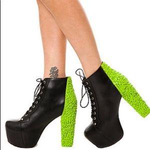 Jeffrey Campbell Lita B Drip Green Slime Shoes